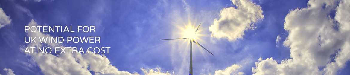 Potential for UK wind power at no extra cost